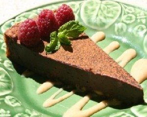 Dessert-Menu-Flourless-Chocolate-Cake-with-Champagne-Raspberry-Coulis1-300x240-2
