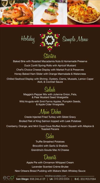 Holiday-party-menu-all-organic-catering-eco-caters-los-angeles-holiday-catering-san-diego-holida-season-catering-company-2 catering san diego wedding catering