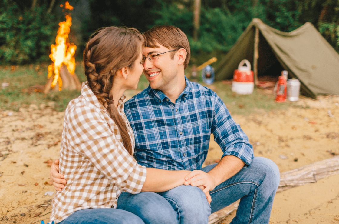 Camping-theme-engagement-photos-uniqie-wedding-ideas catering san diego wedding catering