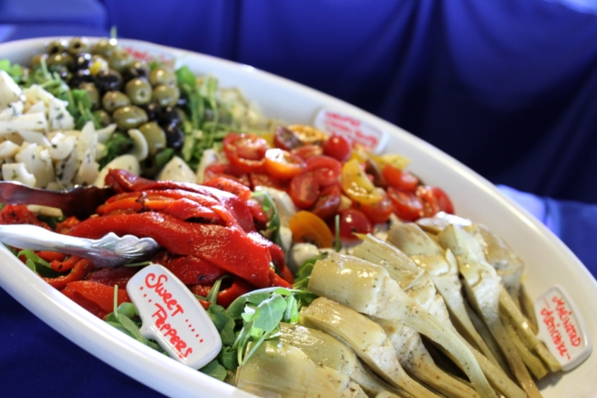 Antipasto-Platter-at-NoMaBID-Event-Karen-Reinstein-1-thegem-gallery-masonry catering san diego wedding catering